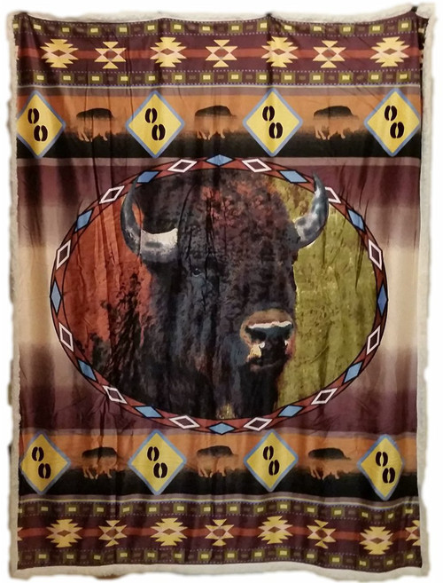 Buffalo Ridge Sherpa Throw Blanket