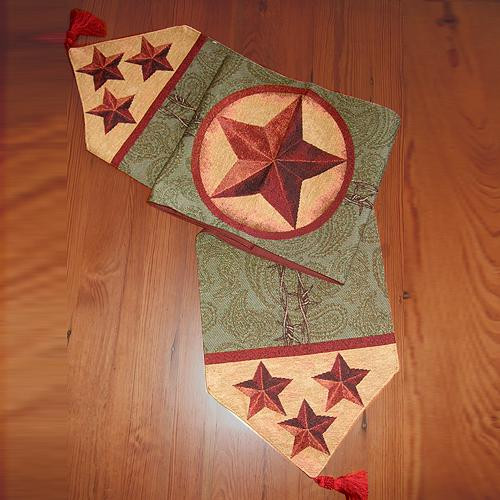 Western Star Table Runner by Manual Woodworkers  and Weavers
