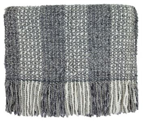 Kennebunk Home Greenwich Smoke throw blanket