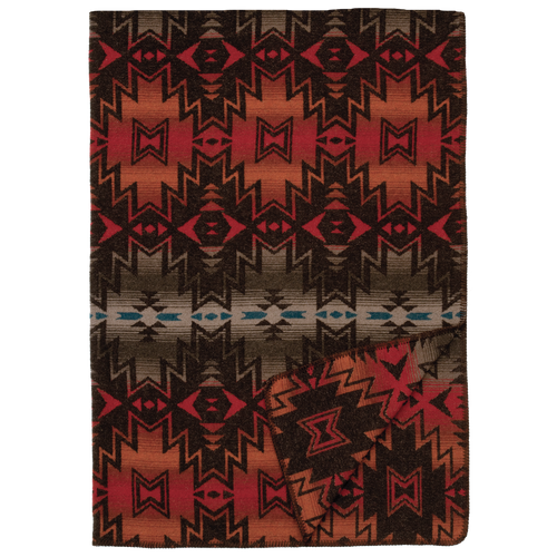 Wooded River Luminaria Throw Blanket
