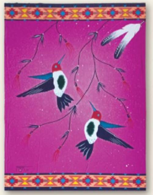 Hummingbird Polar Fleece Blanket by Grover Topaum
