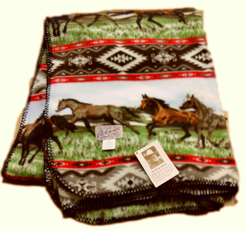 Rockmount Horses Fleece Blanket