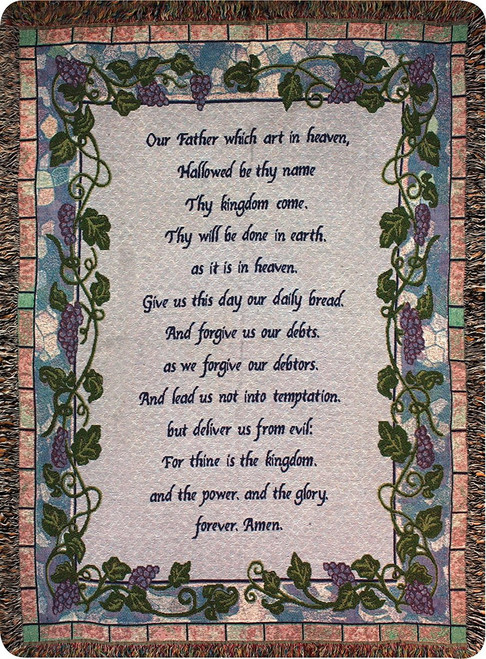 The Lord's Prayer by Manual Woodworkers & Weavers (50x60 Inches)