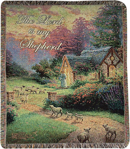 The Good Shepherd's Cottage by Thomas Kinkade by Manual Woodworkers and Weavers