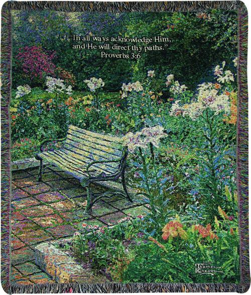 Eternal Springtime Throw Blanket w/ Verse by Thomas Kinkade by Manual Woodworkers & Weavers