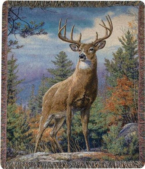 Standing Proud Throw Blanket by Manual Woodworkers & Weavers