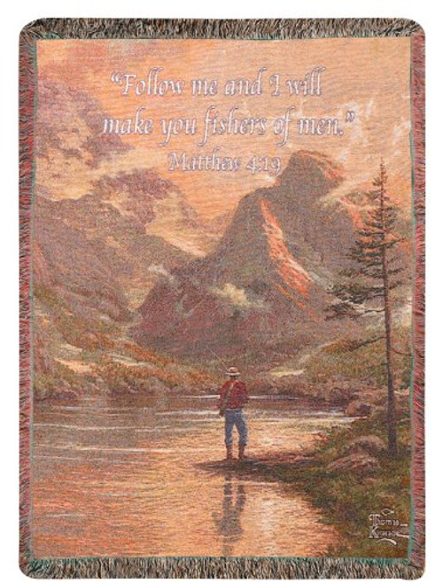 Almost Heaven Throw Blanket by Thomas Kinkade by Manual Woodworkers & Weavers