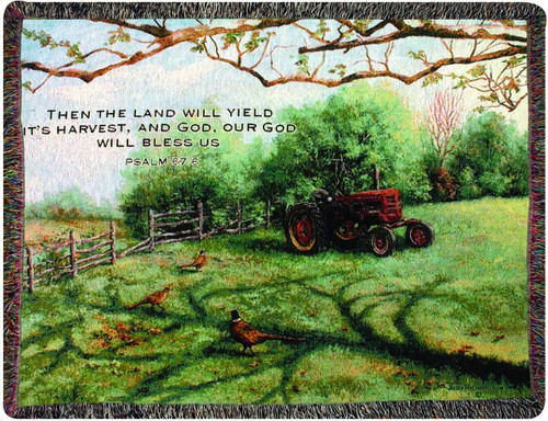 Pheasant Day Throw Blanket by Manual Woodworkers & Weavers (50x60 Inches)