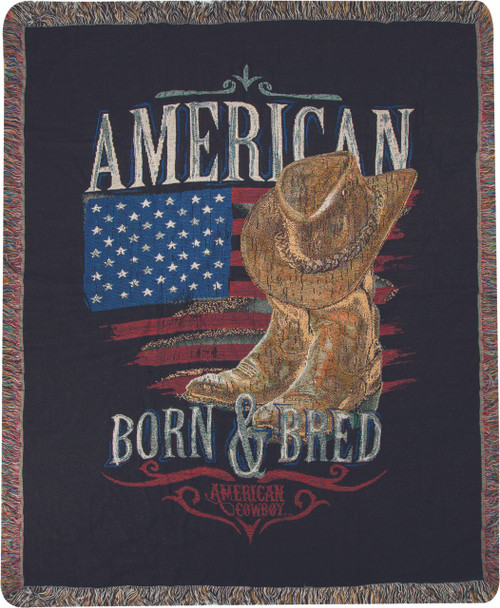 American Cowboy Throw Blanket by Manual Woodworkers and Weavers