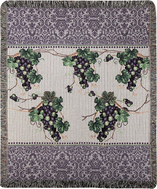 The Vintner's Cottage Throw Blanket by Manual Woodworkers and Weavers (