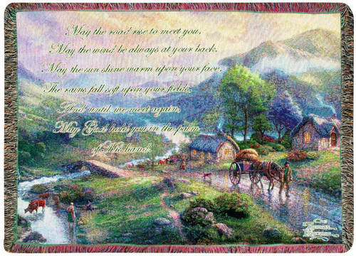 Emerald Valley by Thomas Kinkade by Manual Woodworkers and Weavers (50x60 Inches)