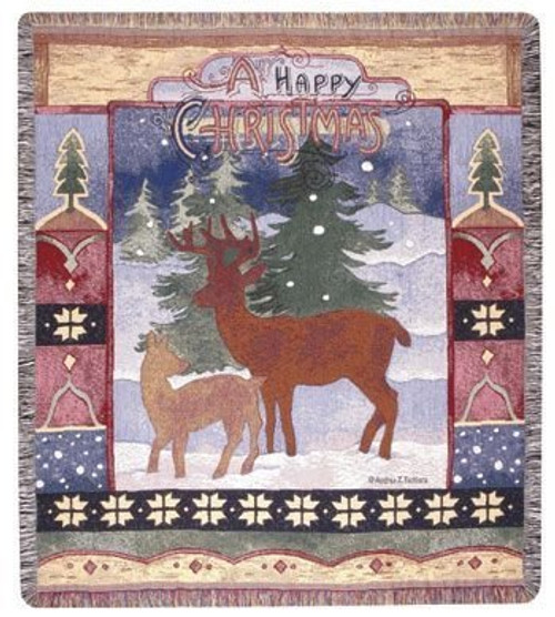 A Happy Christmas Throw Blanket by Simply Home