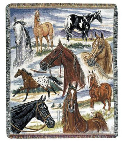 Horse Sense Throw Blanket by Simply Home