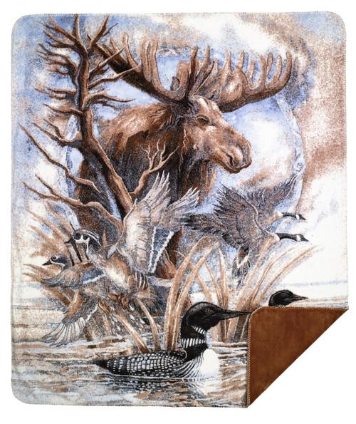 Denali Moose Jody Bergsma MicroPlush Blanket