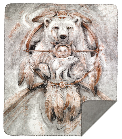 Denali Bergsma Spirit Bear MicroPlush Blanket