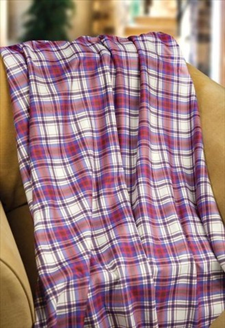 Mad For Plaid Fleece Throw Blanket by Manual Woodworkers & Weavers (50x60 Inches)