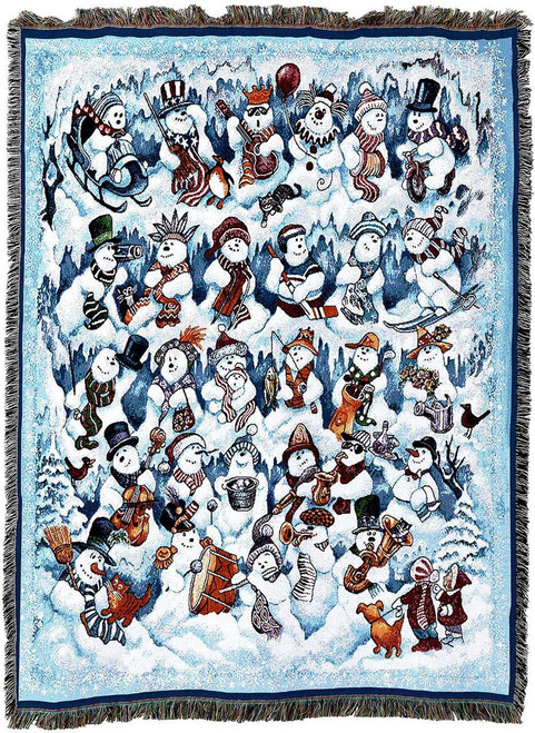 Pure Country Snow Folks Tapestry Throw Blanket