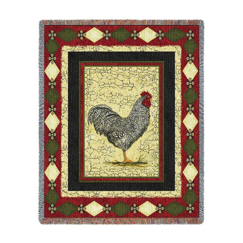 Le Coq Throw Blanket by Pure Country Weavers (53x70 Inches)