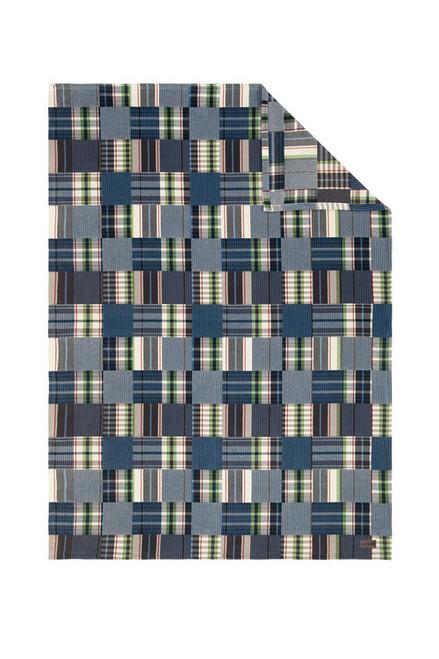 Ibena Vintage Plaid Oversize Throw Blanket