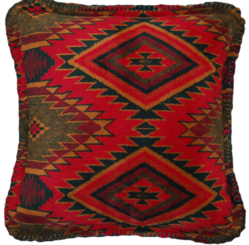 Navaho Wind/Pine #464 18x18 Inch Throw Pillow by Denali