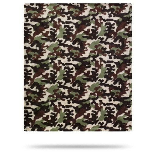 Dark Chocolate Camouflage #245 Baby Blanket by Denali