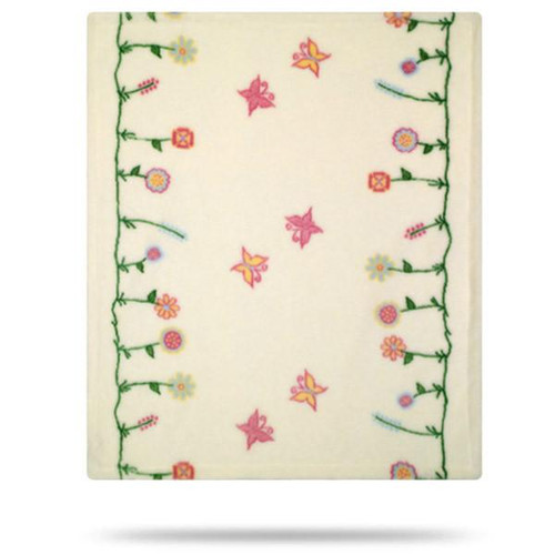 Denali Whimsical Floral Cream Baby Blanket