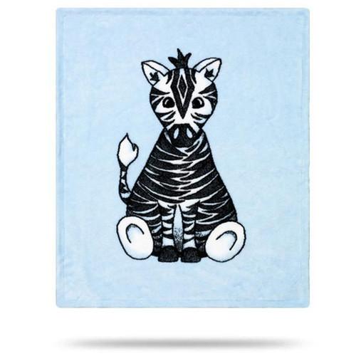 Denali Baby Zebra Blue Baby Blanket