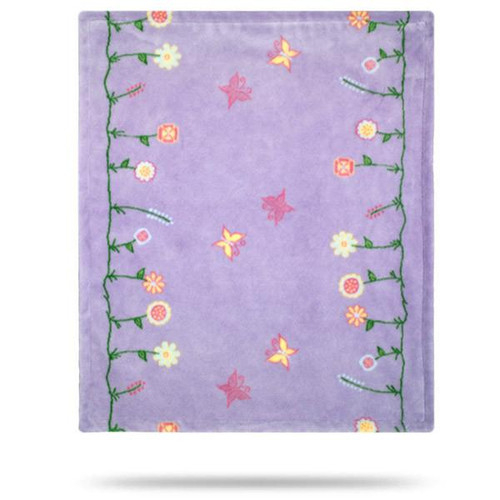 Denali Whimsical Floral Purple Baby Blanket