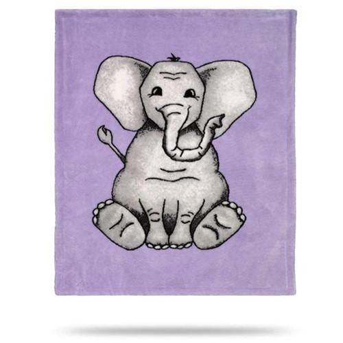 Denali Baby Elephant Purple Baby Blanket