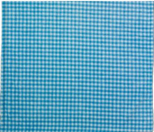 Gingham Light Blue/Light Blue #122 Baby Blanket by Denali (30x36 Inches)