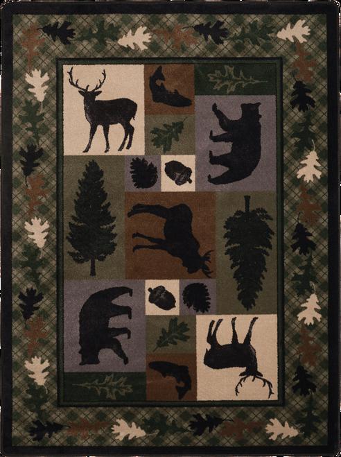 Wildlife Retreat Green Area Rug by American Dakota