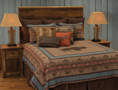Wooded River Bison Ridge 1 Bedspread