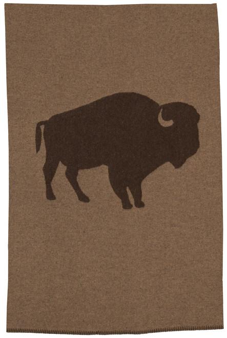 Wooded River Bison Ridge 1 buffalo Throw Blanket