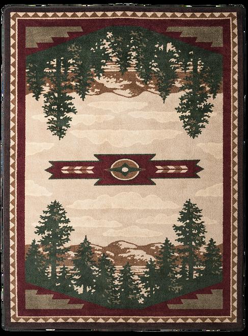 """Autumn Point/Wine 8x11 Rug by American Dakota (7'8"""" x 10'9"""")"""
