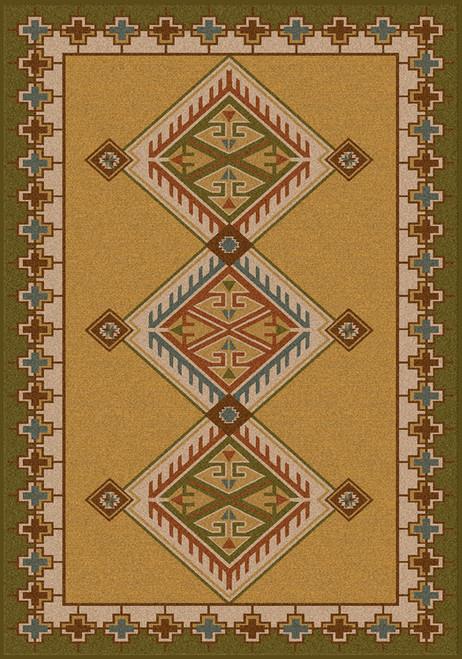 "Ancestry/Green 3x4 Rug by American Dakota (2'8"" x 3'11"")"