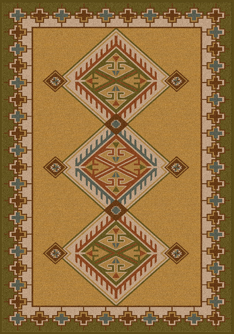 "Ancestry/Green 4x5 Rug by American Dakota (3'10"" x 5'4"")"