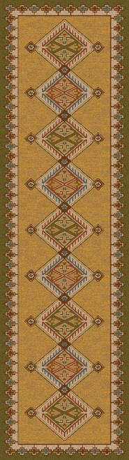 "Ancestry/Green 2x8 Runner by American Dakota (2'1"" x 7'8"")"