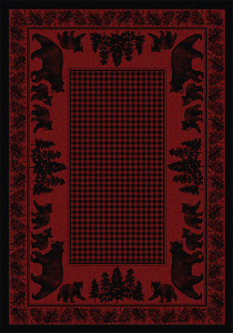 "Bear Family/Red 8x11 Rug by American Dakota (7'8"" x 10'9"")"