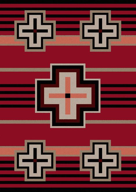 "Bounty/Red 4x5 Rug by American Dakota (3'10 x 5'4"")"