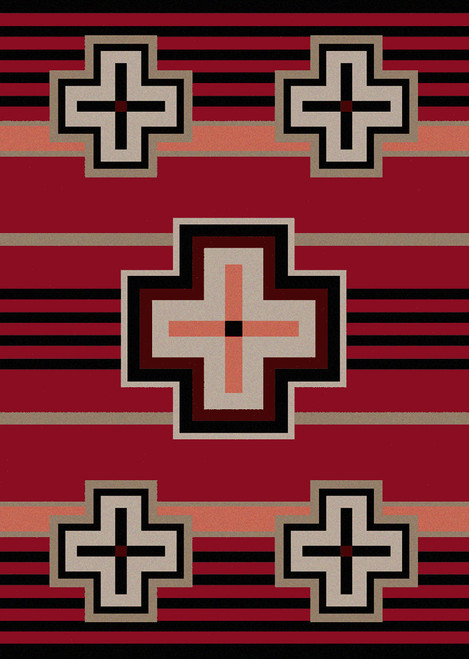 "Bounty/Red 5x8 Rug by American Dakota (5'4"" x 7'8"")"