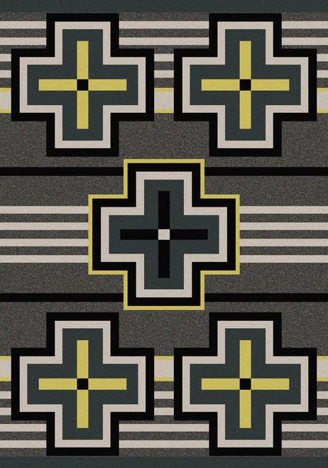 "Bounty/Gray 4x5 Rug by American Dakota (3'10 x 5'4"")"