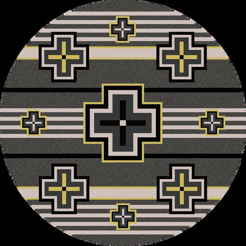 "Bounty/Gray Round Rug by American Dakota (Approx. 7'7"")"