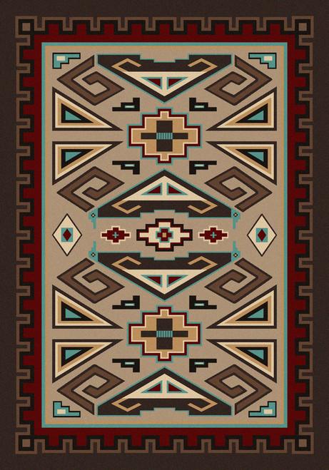 "Butte/Southwest 4x5 Rug by American Dakota (3'10 x 5'4"")"