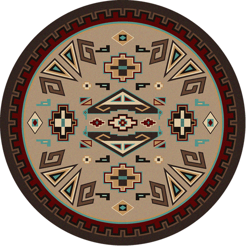 """Butte/Southwest Round Rug by American Dakota (Approx. 7'7"""")"""