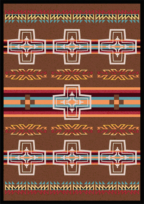 "Canyon Cross/Sunset 4x5 Rug by American Dakota (3'10 x 5'4"")"