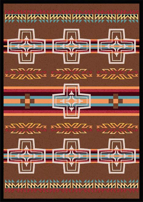 "Canyon Cross/Sunset 8x11 Rug by American Dakota (7'8"" x 10'9"")"
