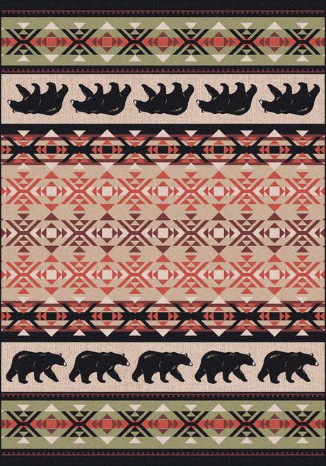 "Cozy Bears/Burnt Red 4x5 Rug by American Dakota (3'10 x 5'4"")"