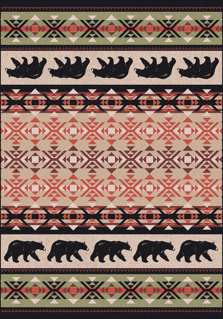 "Cozy Bears/Burnt Red 8x11 Rug by American Dakota (7'8"" x 10'9"")"