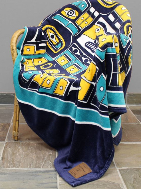 The Chilkat Velura Plush Throw blanket