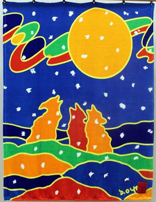 Dawn Oman Full Moon Plush Velura Throw Blanket